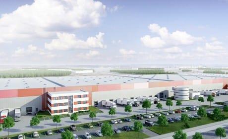 Logistikzentrum Dortmund Vogelperspektive