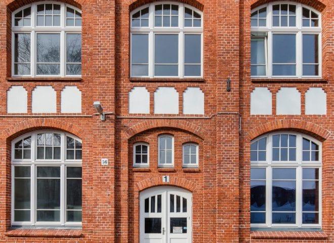 Objektansicht Gewerbepark Eichborndamm von der Eingangstür