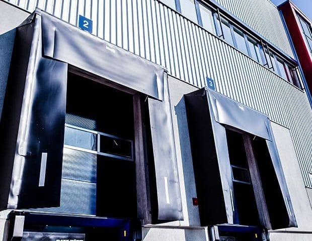 Objektansicht Logistikpark Rade Wenzendorf zwei Beladetore