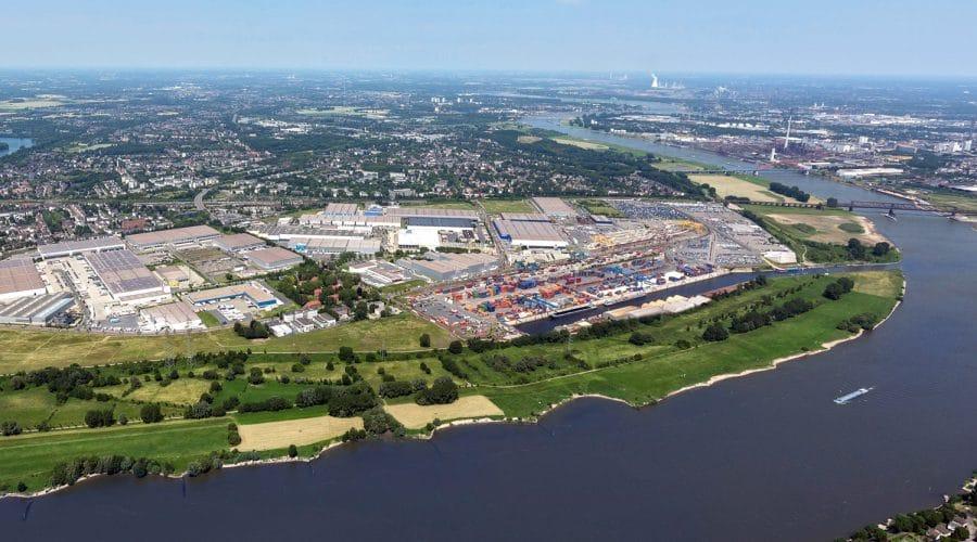 Logport Duisburg Luftaufnahme